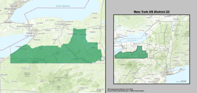 New York 's 23rd congressional district - since January 3, 2013.