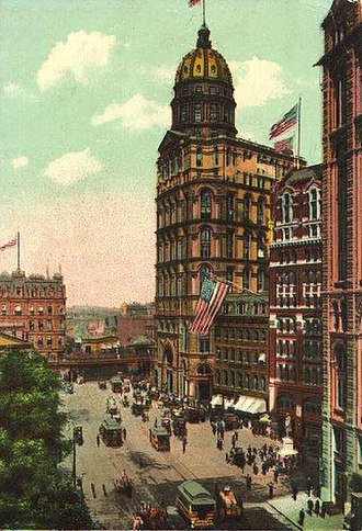 Pryce Lewis - The New York World Building, from which Lewis jumped to his death on December 6, 1911