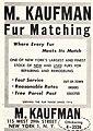 New York fur wholesale dealer M Kaufmann, June 1959 advertisment.jpg