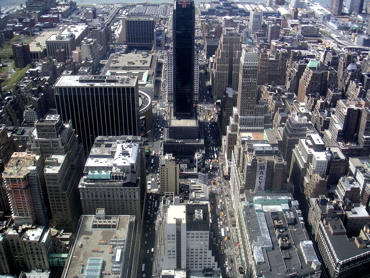 File New York Skyline Aerial View Jpg Wikimedia Commons