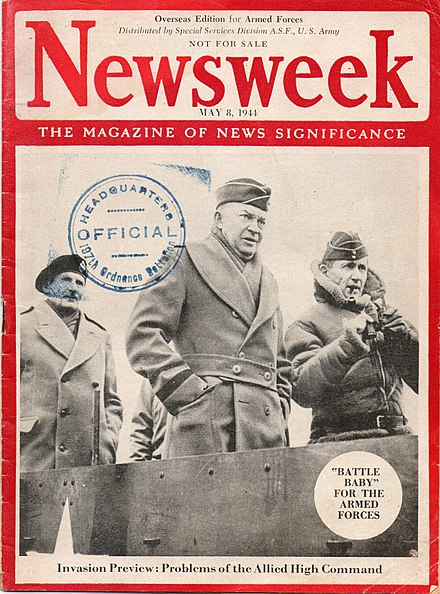 "May 8, 1944 WWII ""Armed Forces Overseas Edition"" Newsweek WWII Armed Forces Overseas Edition 1944.jpg"