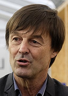 Nicolas Hulot French environmentalist, TV producer and presenter, politician