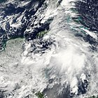 Satellite image of Tropical Storm Nicole near Cuba on September 29, 2010
