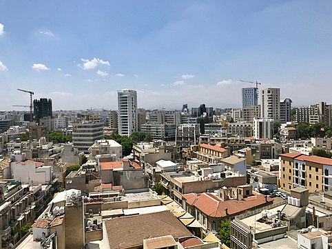 Central Business District of the city Nicosia skyline July 2018.jpg