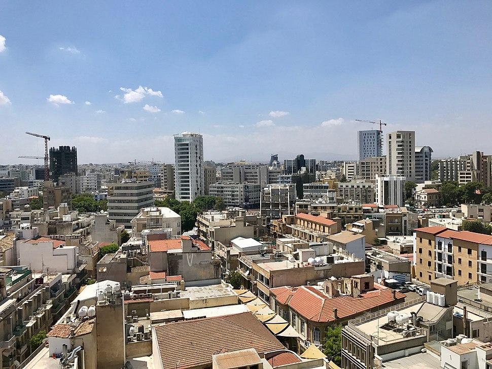 Nicosia skyline July 2018