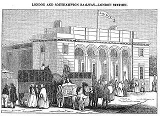 Nine Elms railway station railway station in Battersea, London