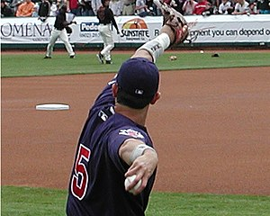 Nomar Garciaparra - Garciaparra with the Cubs in 2005 spring training