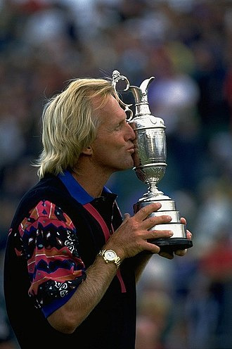 Greg Norman - Norman's second Major championship, 1993 Open at Royal St George's.