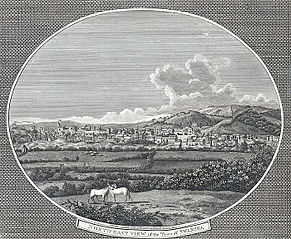 North-east view of the town of Swansea