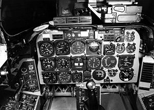 North American F-100 Super Sabre - The cockpit of an F-100D