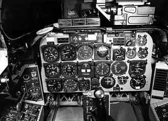 North American F-100 Super Sabre - The cockpit of an F-100D
