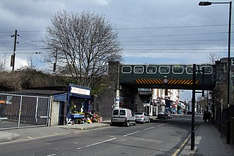 West London line - Bridge over North Pole Road