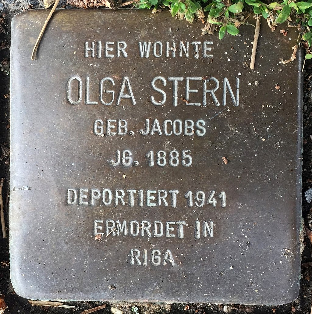 Northeim Stolperstein Olga Stern.jpg