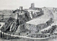 Photograph of a Victorian reconstruction of Nottingham Castle