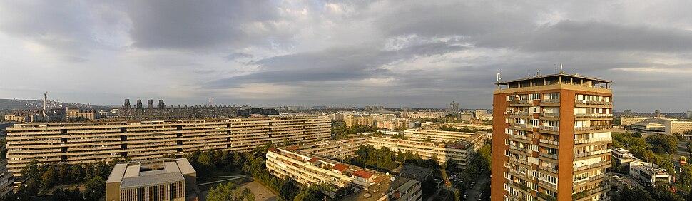 Novi Beograd - 180 deg panorama NNW-SSE