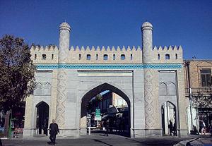 Tarbiat street - Darb Nobar, one of Tabriz city gates in front of Tarbiat St.