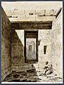Nubischer Tempel von Debod, Aquarell von Simon Leo Reinisch nach einem aelteren Stich.jpg