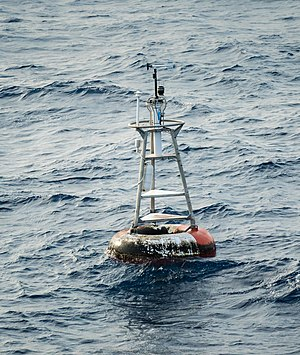 Null Island - The weather buoy moored at the coordinates of Null Island