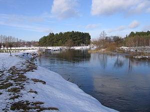 Nurzec - Image: Nurzec (rzeka) ok Kozarzy