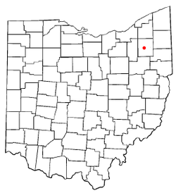 Location of Ravenna, Ohio