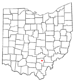 Location of Zaleski, Ohio