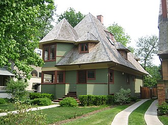 Thomas H. Gale House - Image: Oak Park Il Thomas Gale House 2