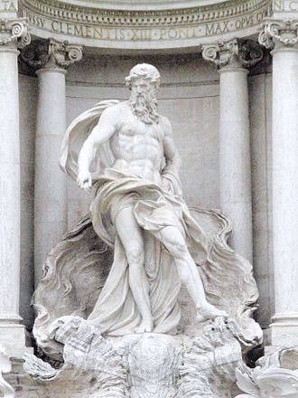 Oceanus - Oceanus in the Trevi Fountain, Rome
