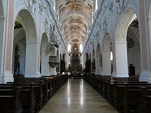Ochsenhausen Abbey - Image: Ochsenhausen klosterkirche 001 Nave