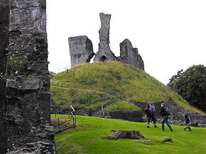 Okehampton - Remains of Okehampton Castle today