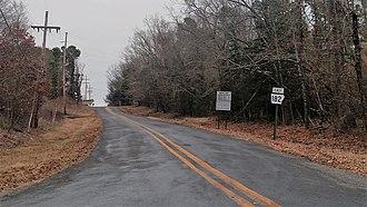 Okolona, Arkansas - Arkansas Highway 182 in Okolona, January 2018
