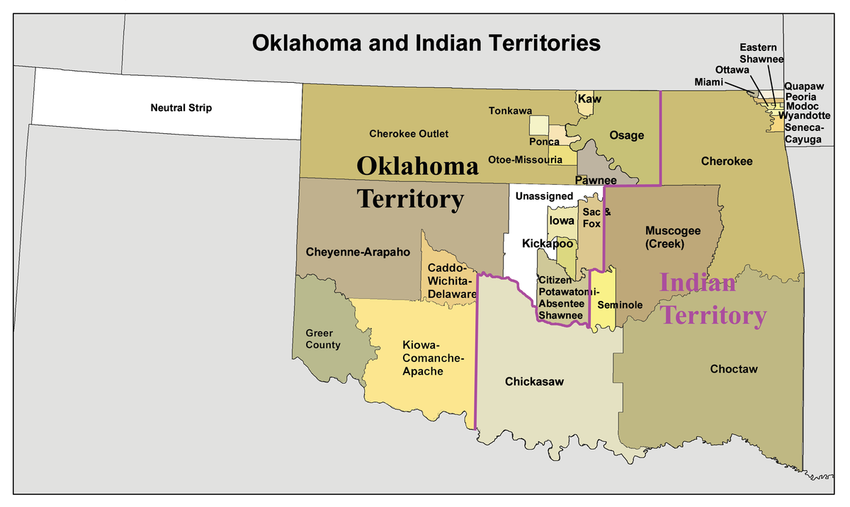 Indian Territory Wikipedia - Us indian territory 1800s map