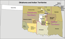 Location of Oklahoma Territory