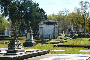 Catholic Cemetery (Mobile, Alabama) - A view of one of the historic sections of Catholic Cemetery.