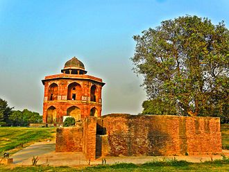 Purana Qila - Old Fort Humayun's private library(Sher Mandal) Purana Qila and Hammam