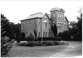 Weatherford College - Archive photo of Old Main in 1950.
