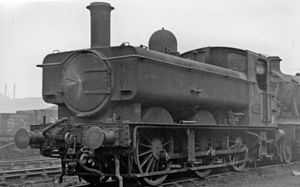GWR 5400 Class - A 5400 Class locomotive at Old Oak Common TMD