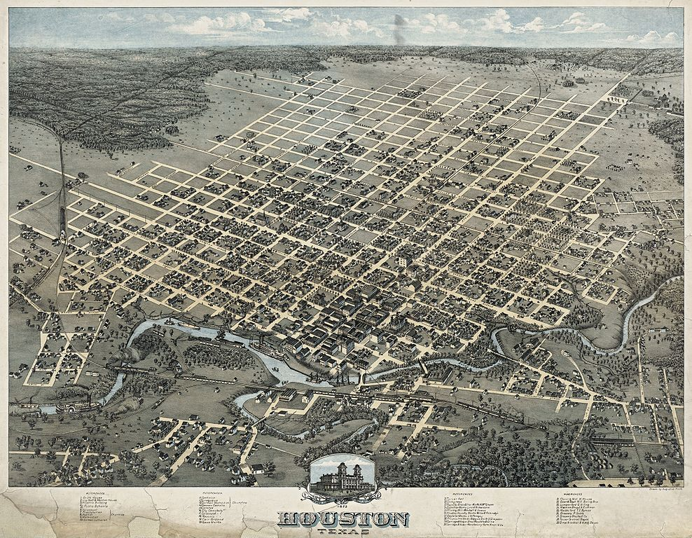 FileOld map Houston 1873jpg FileOld map Houston 1873jpg Wikimedia Commons
