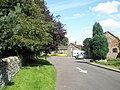 One way road going past the parish church at Ditton Priors - geograph.org.uk - 1447173.jpg