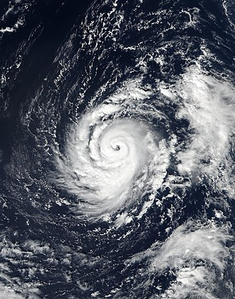 Hurricane Ophelia (2017) - Hurricane Ophelia near its initial peak intensity on 12 October