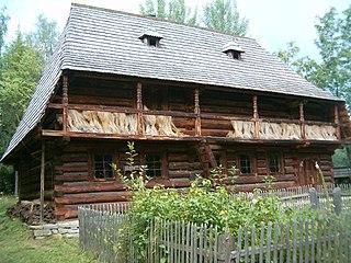 Zubrzyca Górna Village in Lesser Poland Voivodeship, Poland