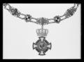 Ordenskedja för storkomtur av kungliga preussiska Hohenzollern-husorden - Livrustkammaren - 35743.tif