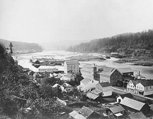 James D. Miller - Oregon City, and Willamette Falls in 1867