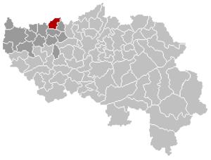 Oreye - Image: Oreye Liège Belgium Map