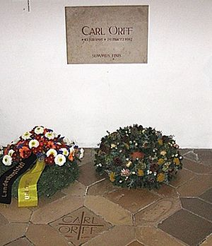 Carl Orff - Orff's grave at the Andechs Abbey church