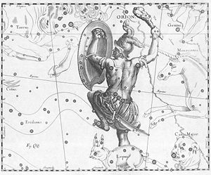 Constellation - Image: Orion constellation Hevelius