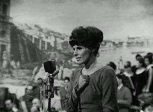 Festival di Napoli - Ornella Vanoni at the festival in 1964