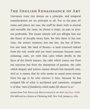 Iowan Old Style - Image: Oscar wilde english renaissance of art 2