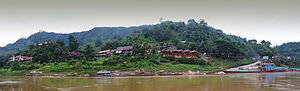 Oudomxay Province - Pak Beng viewed from the Mekong