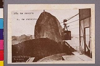 Pão de Assucar - R. de Janeiro. Caminho Aereo Pão de Assucar. Rio de Janeiro. Brasil