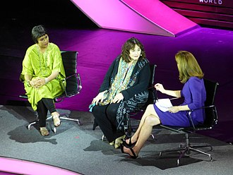 Leslee Udwin - Norah O'Donnell, Leslee Udwin and Barkha Dutt